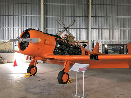 Orange airplane at aviation museum Malta