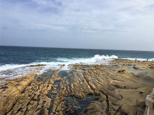 Beach where dog found Malta sponge