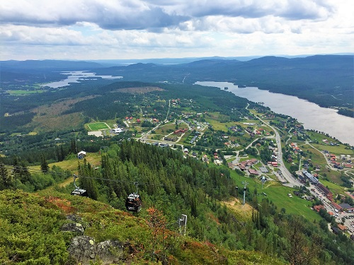 Panoramic view of Jämtland, Sweden, and Tänndalen