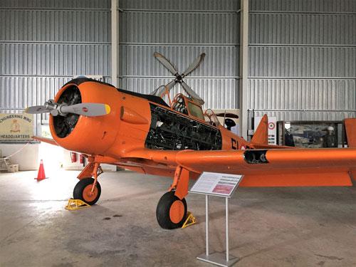 Orange airplane at aviation museum Malta