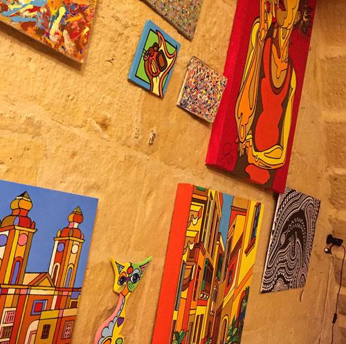 Wall art at Cocohub Malta
