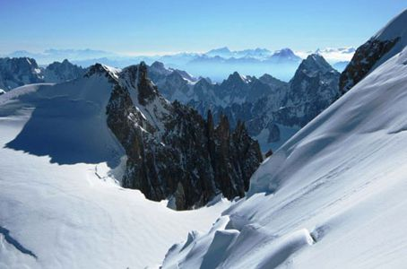 View of French alps - where to travel with your dog