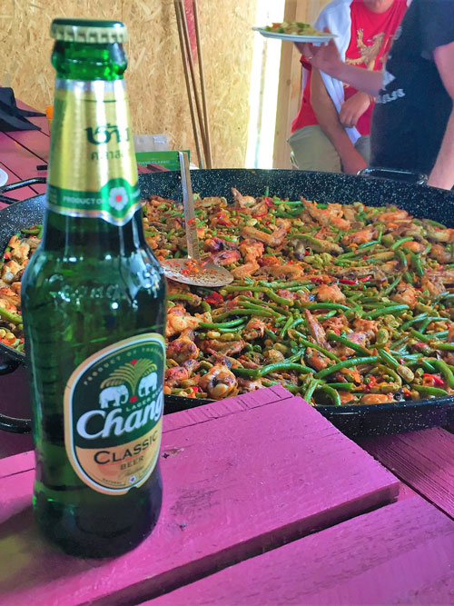 beer and stir-fry at Maltese hippie party
